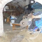 fragment piwnicy przed remontem