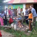 ognisko na biwaku